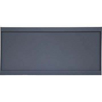 Clôture aluminium Brevine gris, H.73 x l.149 cm