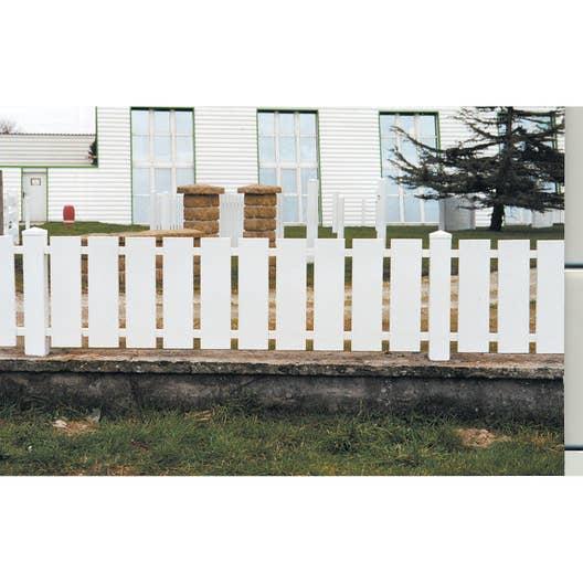 cl ture pvc nantes naterial blanche x cm leroy merlin. Black Bedroom Furniture Sets. Home Design Ideas