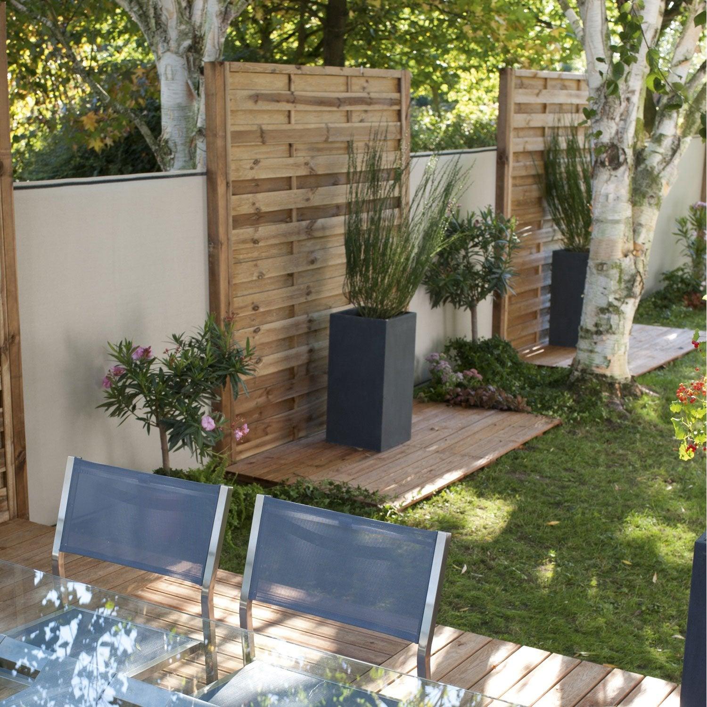panneau en bois droit occultant l 90 x h 200 cm marron leroy merlin. Black Bedroom Furniture Sets. Home Design Ideas