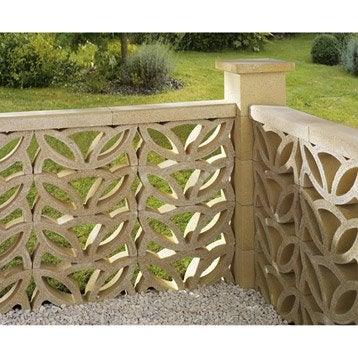 claustra claustra bois composite b ton au meilleur prix leroy merlin. Black Bedroom Furniture Sets. Home Design Ideas