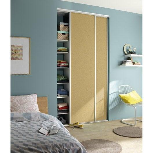 Porte de placard coulissante peindre spaceo x cm leroy merlin - Peindre des portes ...