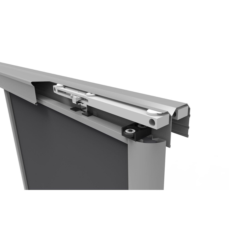 kit porte de placard Kit pour amortisseurs SPACEO gris L.8.8 cm ...