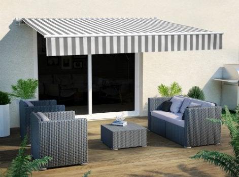 comment choisir son store banne leroy merlin. Black Bedroom Furniture Sets. Home Design Ideas