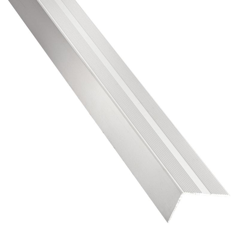 Nez De Marche Aluminium Mat Argent L 2 M X L 1 9 Cm X H 2 Cm