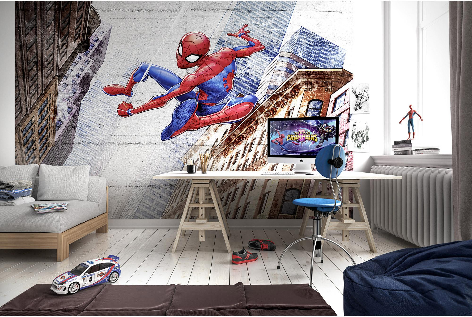 Cm 254 368 H Murale Multicolore Photo Spiderman Komar Concrete L X 0NwPnOk8X