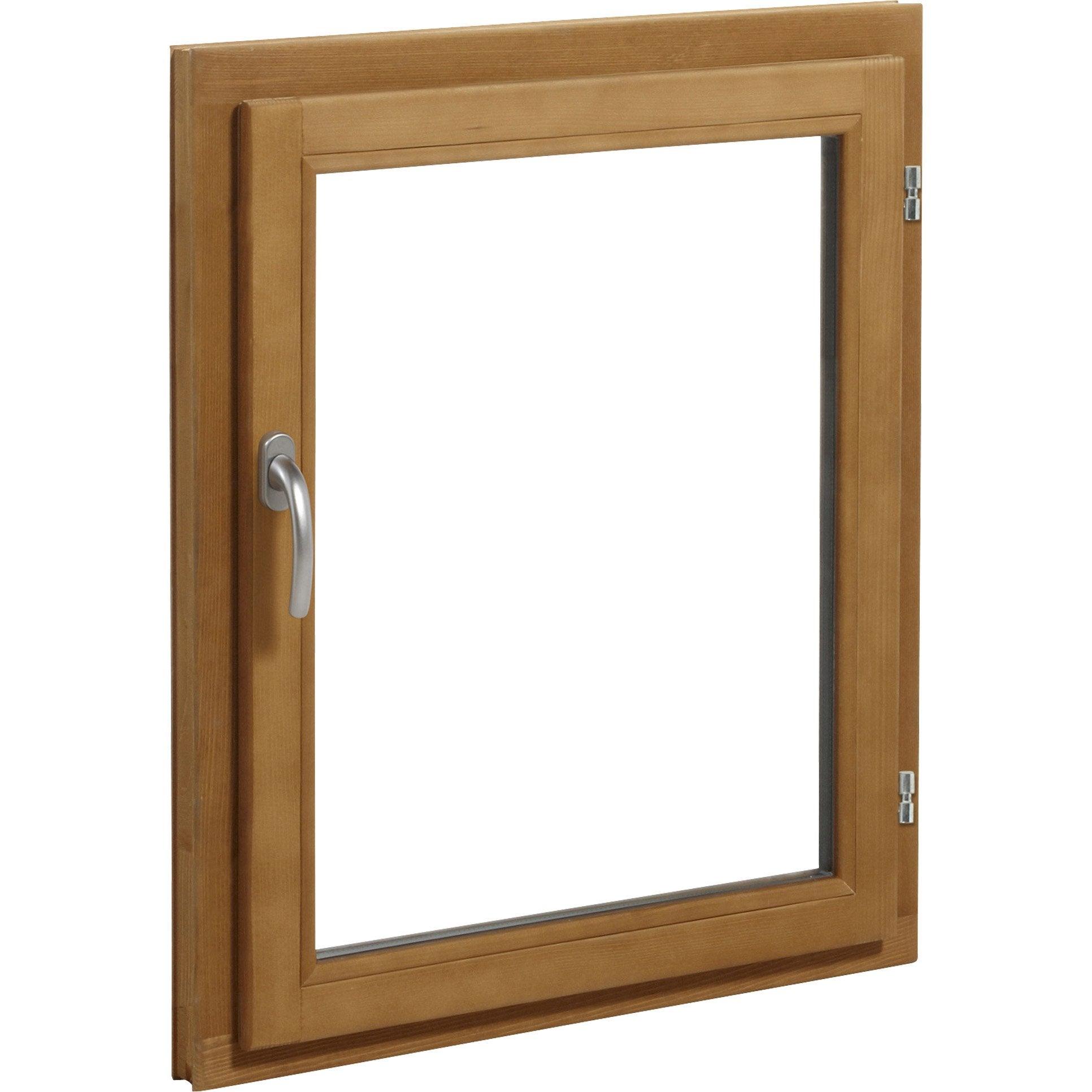 Fenêtre Bois H.45 x l.40 cm, pin, 1 tirant droit