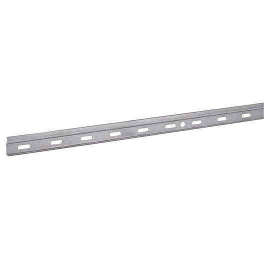 1 rail pour suspension de meuble acier zingué hettich, l.2000 mm ... - Fixation Meuble Cuisine