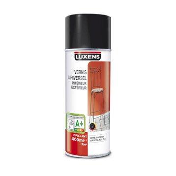 Vernis en bombe aérosol brillant LUXENS, incolore, 0.4 l