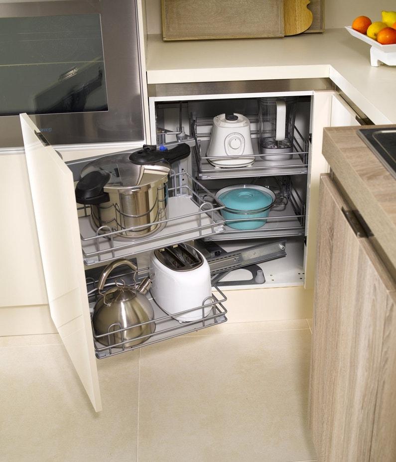 Rangement d\'angle pour une cuisine astucieuse | Leroy Merlin