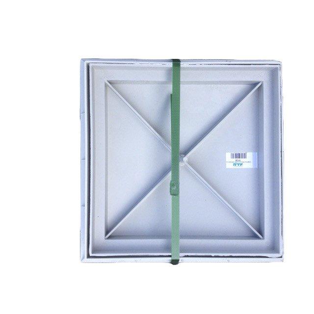 Cache à Carreler Pvc Gris First Plast L30 X L30 Cm