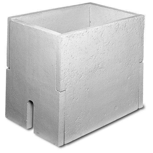 Abri pour compteur d 39 eau b ton x mm leroy - Regard compteur d eau exterieur ...