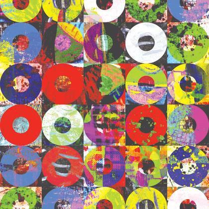 Papier Peint Disc Multicolore Intisse Street Art Leroy Merlin