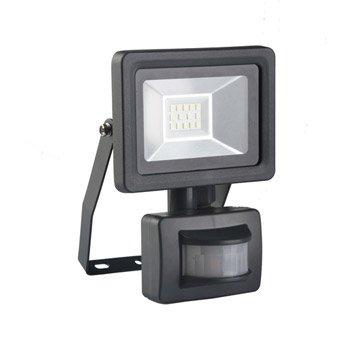 Projecteur à fixer à détection extérieur LED intégrée 10 W=750 Lm, noir INSPIRE