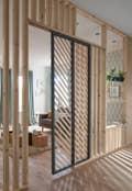 Couloir / Entree Salon / Sejour Blanc / Beige / Naturel Bois Autre Style