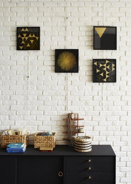 Des plaquettes de parement en briques blanches