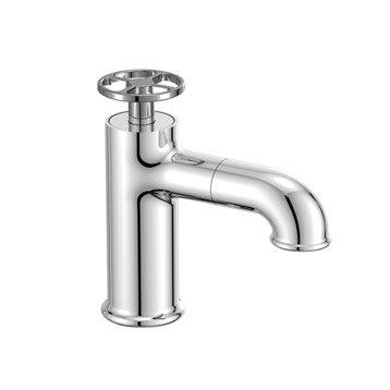Robinet de lave-mains eau froide chromé brillant SENSEA Rano
