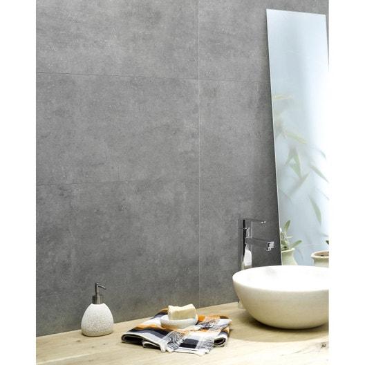 dalle murale pvc b ton clair dumawall x cm x ep 3 mm leroy merlin. Black Bedroom Furniture Sets. Home Design Ideas