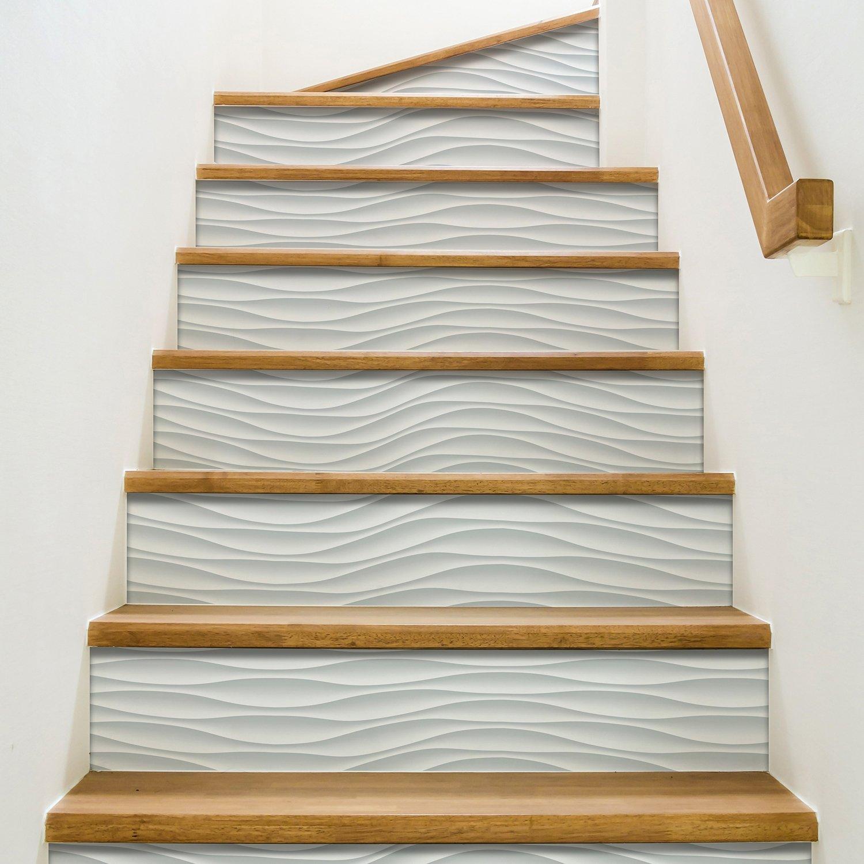 Carrelage Sur Marche D Escalier imitation carrelage pour la contremarche   leroy merlin