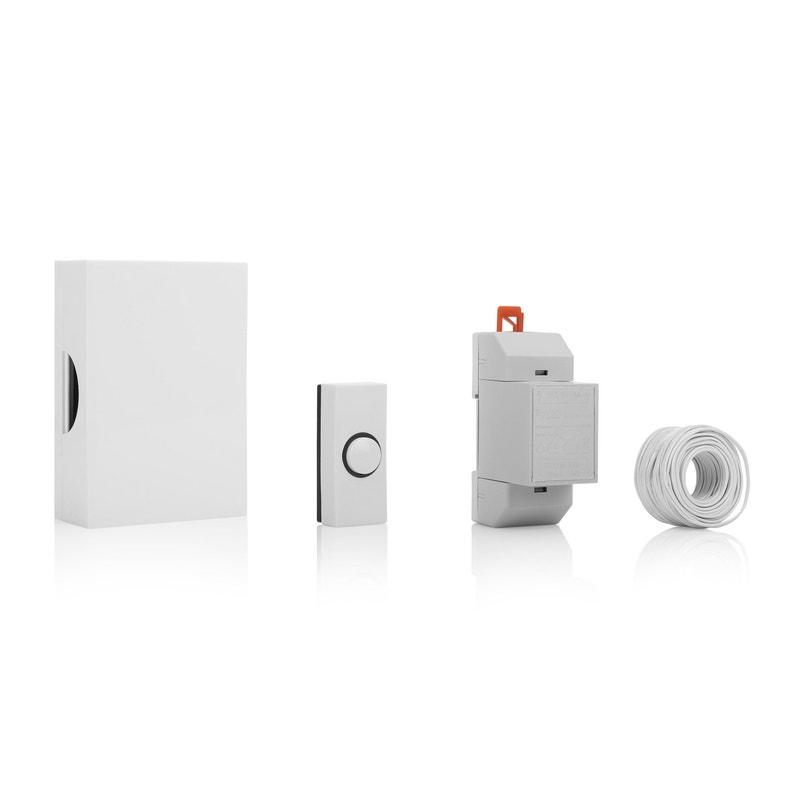 Carillon Filaire Bouton Poussoir Blanc Et Câbles Inclus 720k Smartwares