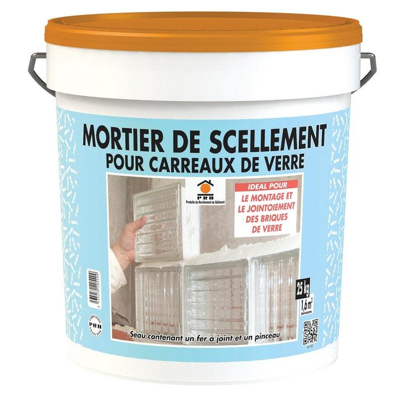 Mortier Brique De Verre Blanc Prb Mur Intérieur 25kg