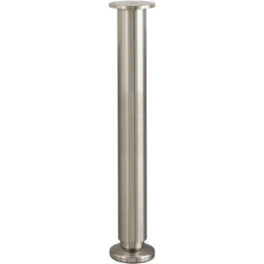 pied de lit sommier cylindrique r glable aluminium chrom gris de 35 37 cm leroy merlin. Black Bedroom Furniture Sets. Home Design Ideas