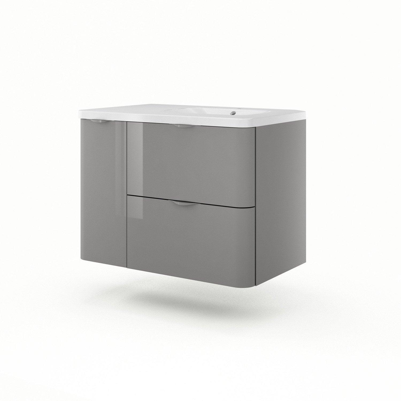 meuble vasque 90 cm gris neo shine leroy merlin. Black Bedroom Furniture Sets. Home Design Ideas