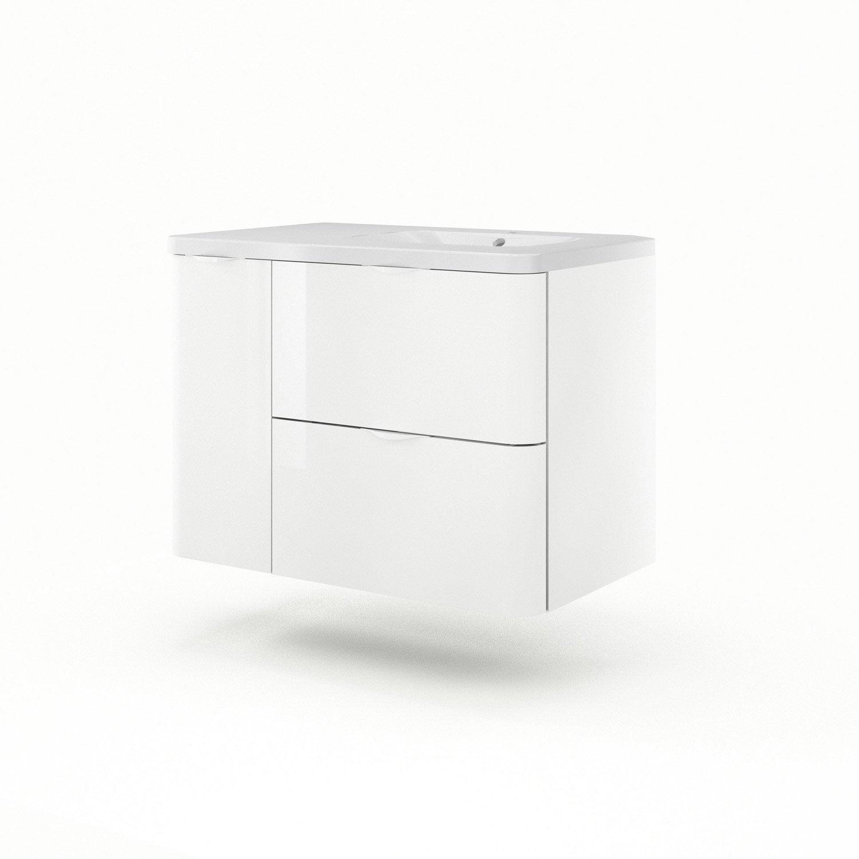 meuble vasque 90 cm blanc neo shine leroy merlin. Black Bedroom Furniture Sets. Home Design Ideas