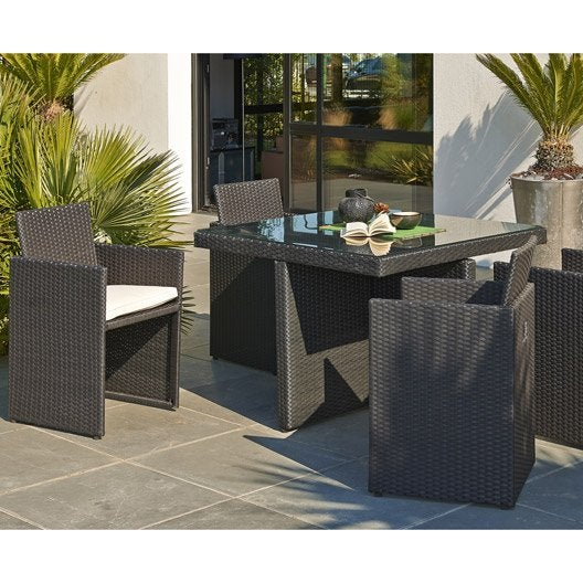 salon de jardin table fauteuil chaise salon de jardin pas cher au meilleur prix leroy merlin. Black Bedroom Furniture Sets. Home Design Ideas