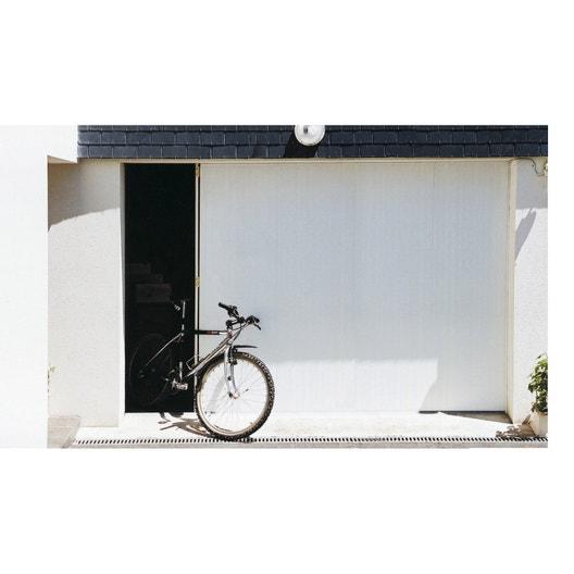 Porte de garage coulissante manuelle artens x cm leroy merlin - Porte garage 3 metres ...