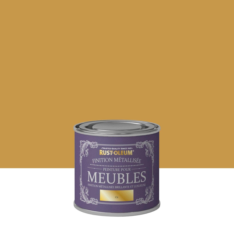 Peinture Pour Meuble, Objet Et Porte, Poudré, RUSTOLEUM, Or 0.125 L