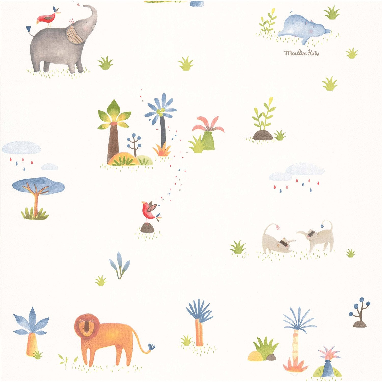 Papier Les Multicolore Petits Curieux Animaux Papoum Peint vymNn0wO8