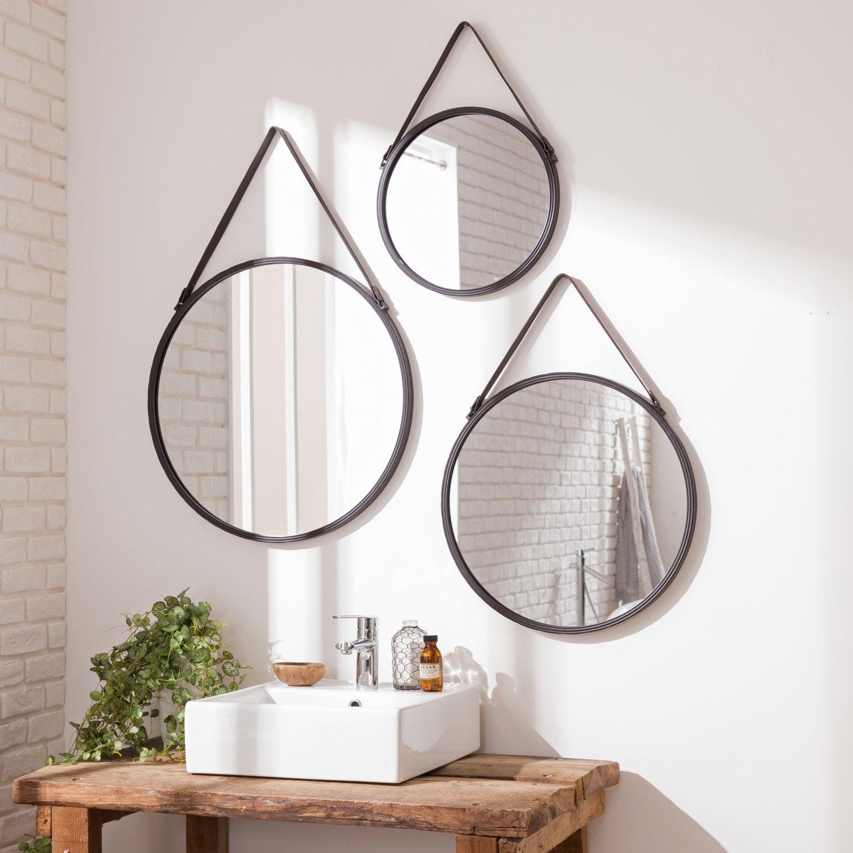 Des plaquettes de parement effet pierre pour rechauffer un - Deco avec miroir mural ...