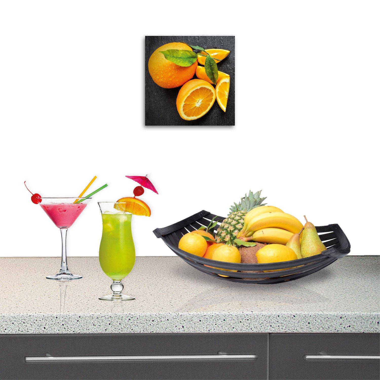 Donnez vie au mur de sa cuisine, avec une décoration orignale orange ...