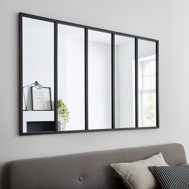 Un miroir fen tre pour un style loft leroy merlin for Miroir rectangulaire noir