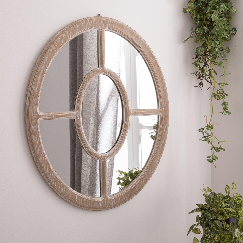 adoptez une d coration naturelle avec un miroir ovale en bois leroy merlin. Black Bedroom Furniture Sets. Home Design Ideas