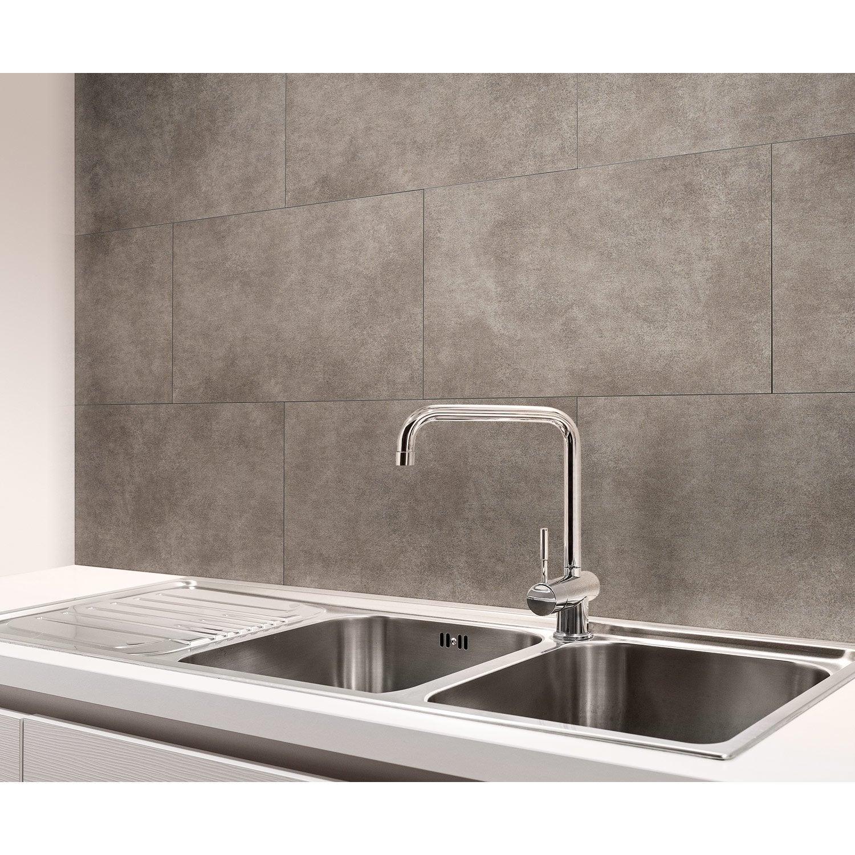 dalle pvc adh sive grise dumawall nice x cm x ep 5 5 mm leroy merlin. Black Bedroom Furniture Sets. Home Design Ideas