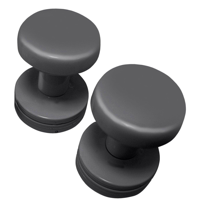 lot de 2 pat res pour s che serviette gris anthracite basic leroy merlin. Black Bedroom Furniture Sets. Home Design Ideas