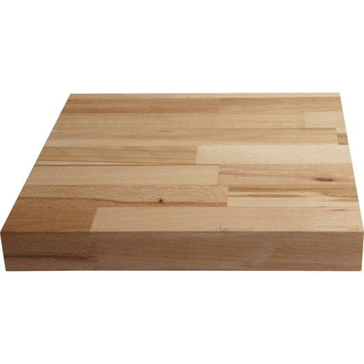 plan de travail bois htre prhuil satin l300 x p65 cm - Plan De Travail Cuisine Htre