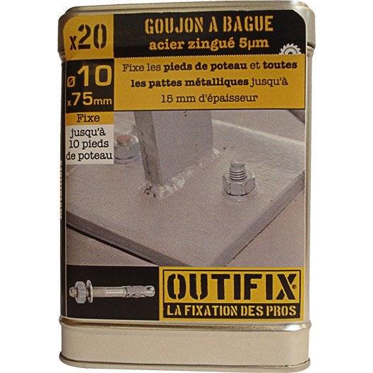 lot de 20 chevilles expansion atx outifix x mm leroy merlin. Black Bedroom Furniture Sets. Home Design Ideas