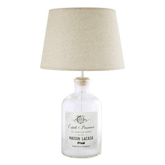 lampe e27 casa seynave lin beige 40 w leroy merlin. Black Bedroom Furniture Sets. Home Design Ideas