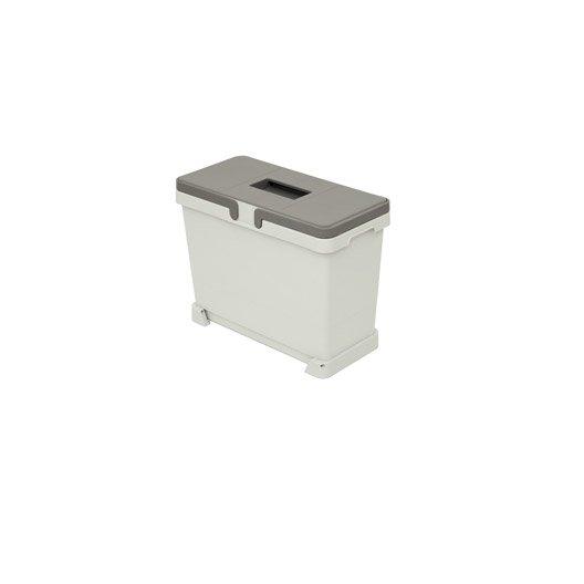 poubelle de cuisine manuelle plastique gris 25 l leroy merlin. Black Bedroom Furniture Sets. Home Design Ideas