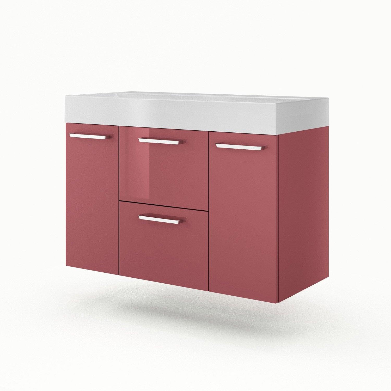 meuble vasque 105 cm rouge neo line leroy merlin. Black Bedroom Furniture Sets. Home Design Ideas