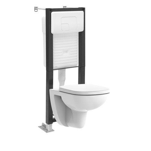 pack wc suspendu bti universel lori - Wc Suspendu Avec Lave Main Integre Leroy Merlin