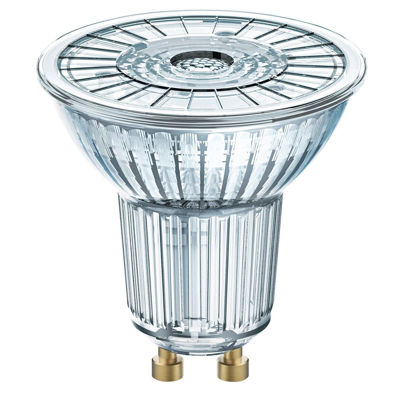 ampoule led gu10 4 6w 350lm quiv 50w compatible variateur 36 4000k osram leroy merlin. Black Bedroom Furniture Sets. Home Design Ideas