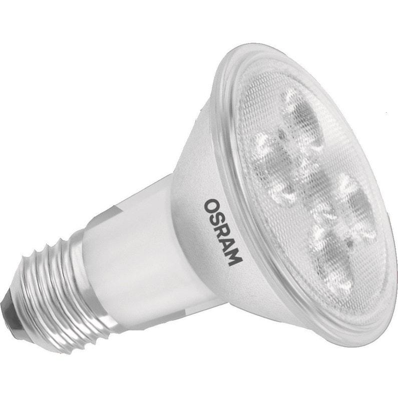 Ampoule Led E27 5w 900lm équiv 51w Réflecteur Par20 36 2700k Osram