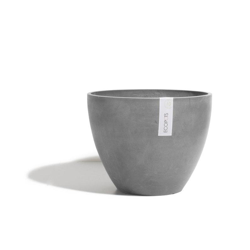 Pot Plastique Ecopots 7400840g Diam40 X H30 Cm Gris
