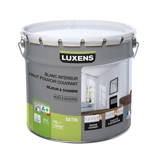 peinture blanche mur plafond boiserie peinture acrylique et glyc ro au meilleur prix leroy. Black Bedroom Furniture Sets. Home Design Ideas