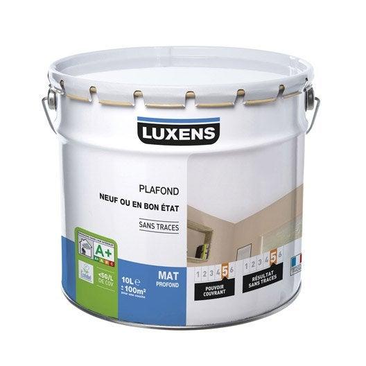 Peinture blanche plafond Neuf ou bon état LUXENS, mat profond 10 l