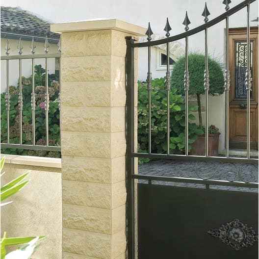 El ment de pilier classique taill bossel ton pierre h for Pilier decoratif exterieur