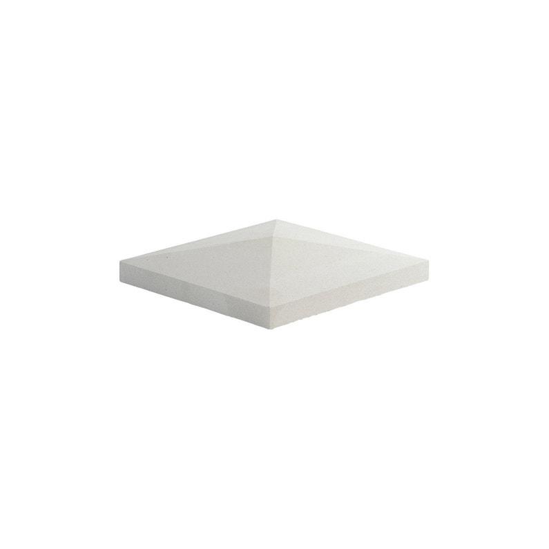 Chapeau De Pilier Pointe De Diamant 50x50 Cm Blanc